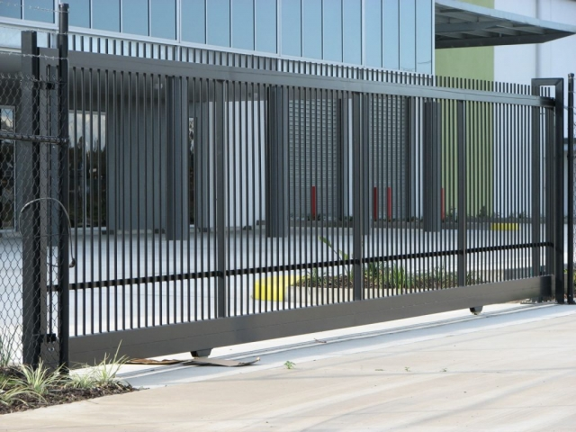 Mayfair Steel & Aluminium Sliding Gates powder coated by Superior Coaters in Archerfield, Brisbane.